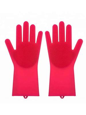 Перчатки силиконовые для уборки и мытья посуды Magic Silicone Gloves | 5025990