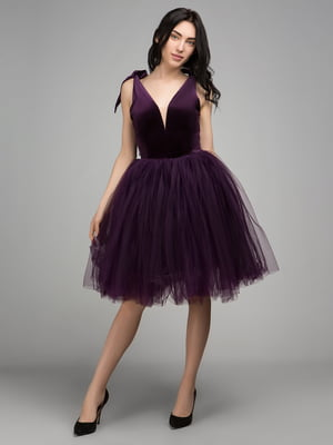 Платье темно-фиолетовое | 2949501
