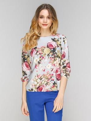 Блуза в квітковий принт | 5077711