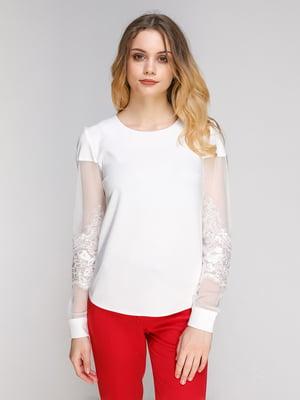 Блуза молочного кольору | 5077767