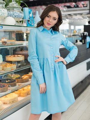 Платье голубое | 5081853