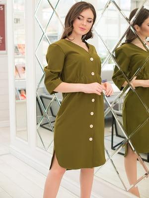 Платье цвета хаки | 5081860