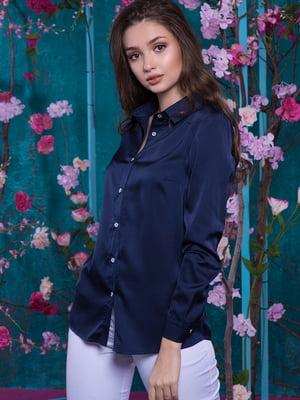 Рубашка темно-синяя | 5081874