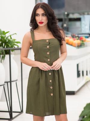 Платье цвета хаки | 5081886
