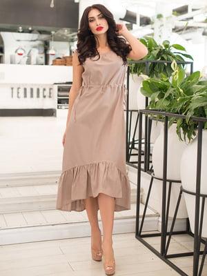 Платье бежевое | 5081894