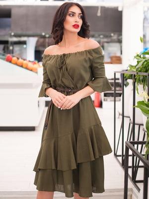 Платье цвета хаки | 5081912