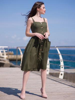 Платье цвета хаки | 5081924