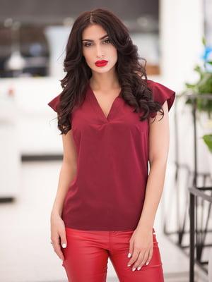 Блуза бордовая | 5081929