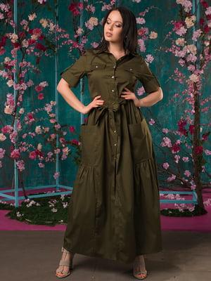 Платье цвета хаки | 5081943