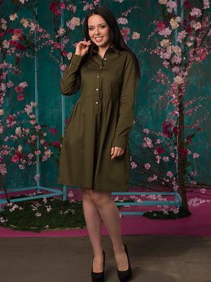 Платье цвета хаки | 5081947