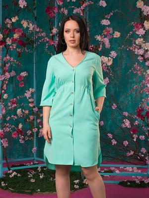 Платье мятного цвета | 5081948