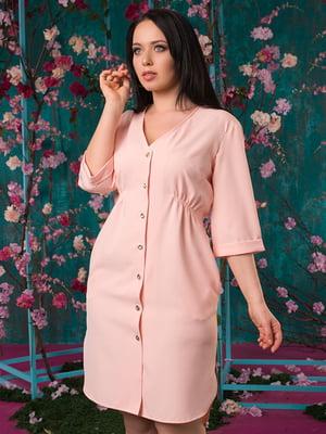 Платье цвета пудры | 5081949
