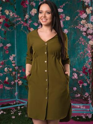 Сукня кольору хакі | 5081950
