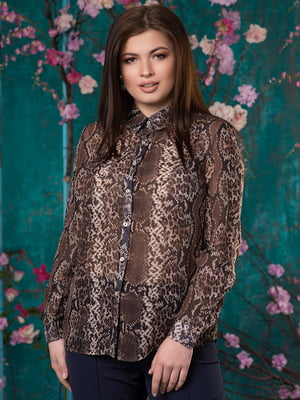 Рубашка анималистичной расцветки | 5081957