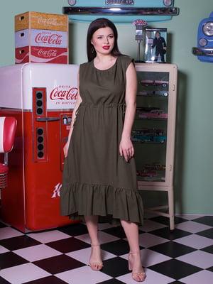 Платье цвета хаки | 5081972