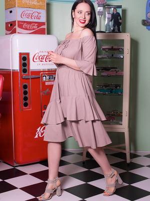 Платье бежевое | 5081984