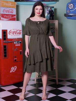 Платье цвета хаки | 5081987