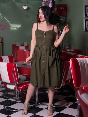 Платье цвета хаки | 5081991