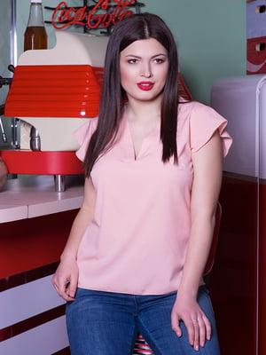 Блуза цвета пудры | 5081996