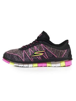 Кросівки фіолетові з принтом - Skechers - 5081642