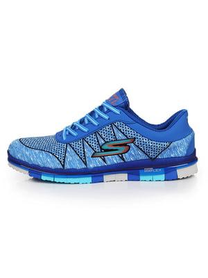 Кросівки сині з принтом - Skechers - 5081688