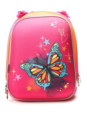Рюкзак синій з принтом | 4235785