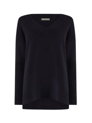 Пуловер темно-синій | 5073854
