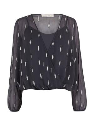 Блуза темно-серая | 5074130