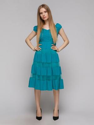 Платье бирюзовое | 5026068