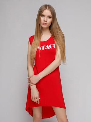Платье красное с принтом | 5026066