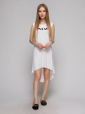 Платье белое с принтом | 5026155