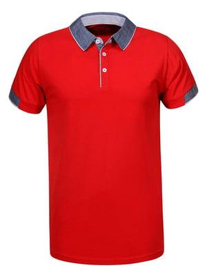 Футболка-поло червона | 5075836
