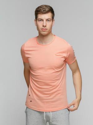 Футболка персикового кольору | 5077340