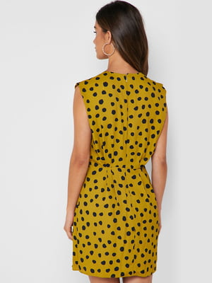 Платье желтое в горошек | 5027390