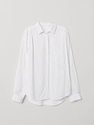 Рубашка белая в полоску | 5080886