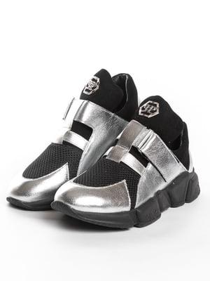 Кроссовки черно-серебристые | 5089907
