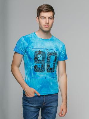 Футболка блакитна | 5077366