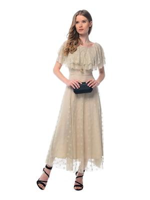 Платье бежевое | 5090086