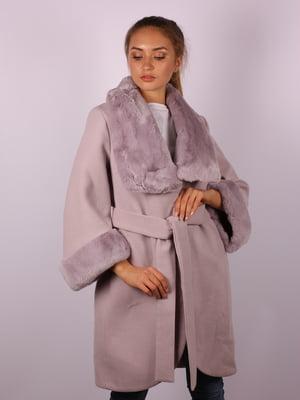 Пальто цвета пудры   5090625
