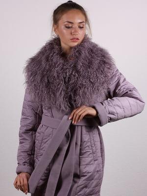 Пальто темно-сиреневое   5090633