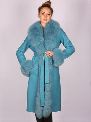 Пальто голубое   5090700