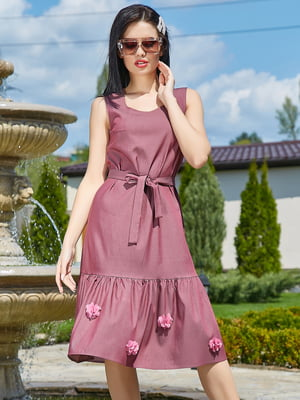 Платье цвета марсала | 5091638