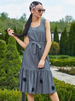 Платье темно-серое | 5091650