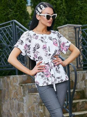 Блуза в цветочный принт | 5091656