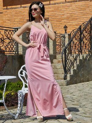 Платье розовое в  принт | 5091661