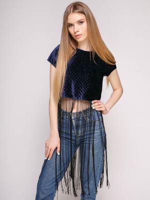 Блуза темно-синяя   4874548