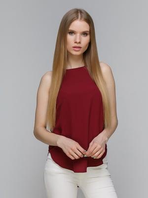 Блуза бордовая | 3801825