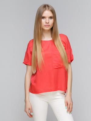 Блуза коралловая | 4507089