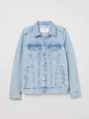 Куртка блакитна джинсова | 5073003