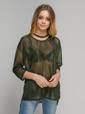 Блуза зеленая | 3807984